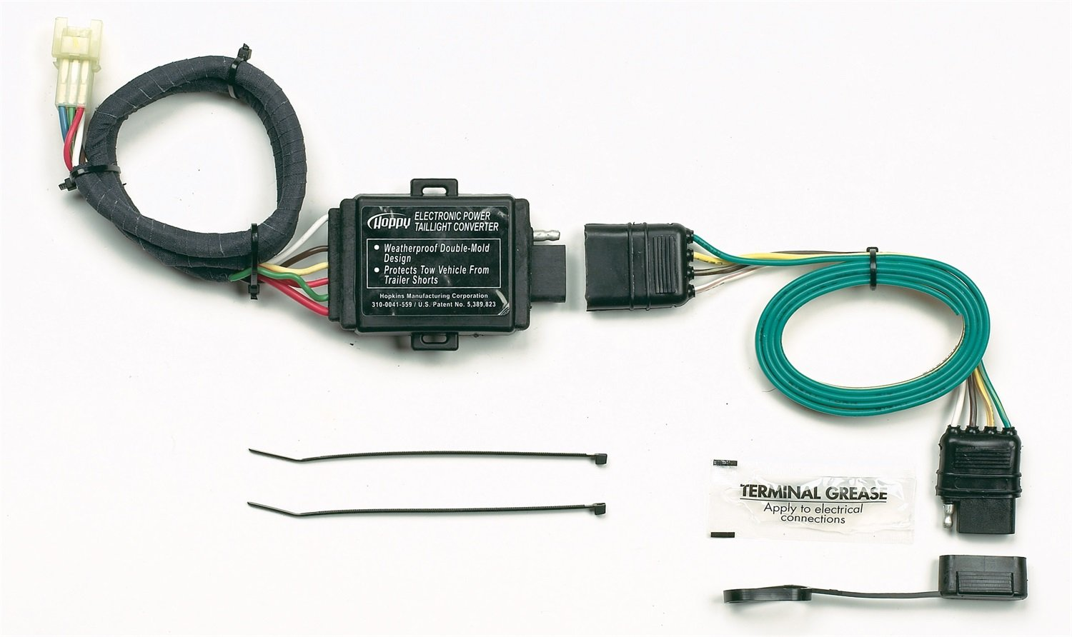 61vyuCKHFzL._SL1500_ amazon com hopkins 43855 plug in simple vehicle wiring kit hoppy wiring harness at crackthecode.co