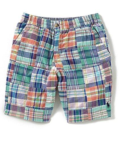 Ralph Lauren Polo Boys Plaid Patchwork Reversible Cotton Shorts (7)