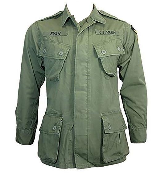 79bfab486bc US Army Vietnam Era TROPICAL JUNGLE JACKET - American Military Fatigue  Combat Top (Large (