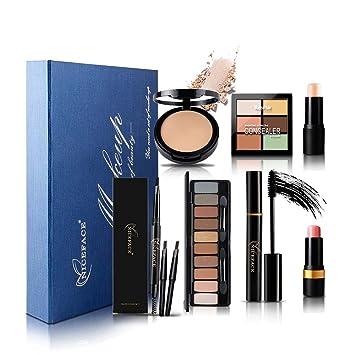 Christmas Makeup Gift Sets.Amazon Com Niceface Christmas Makeup Gift Set Palettes