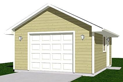Garage Plans 1 Car Garage Plan 3201 16 x 20 one car – 16X20 Garage Plans