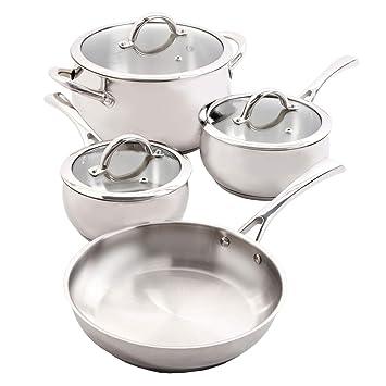 Amazon.com: Oster Derrick 7 Piece Stainless Steel Cookware ...
