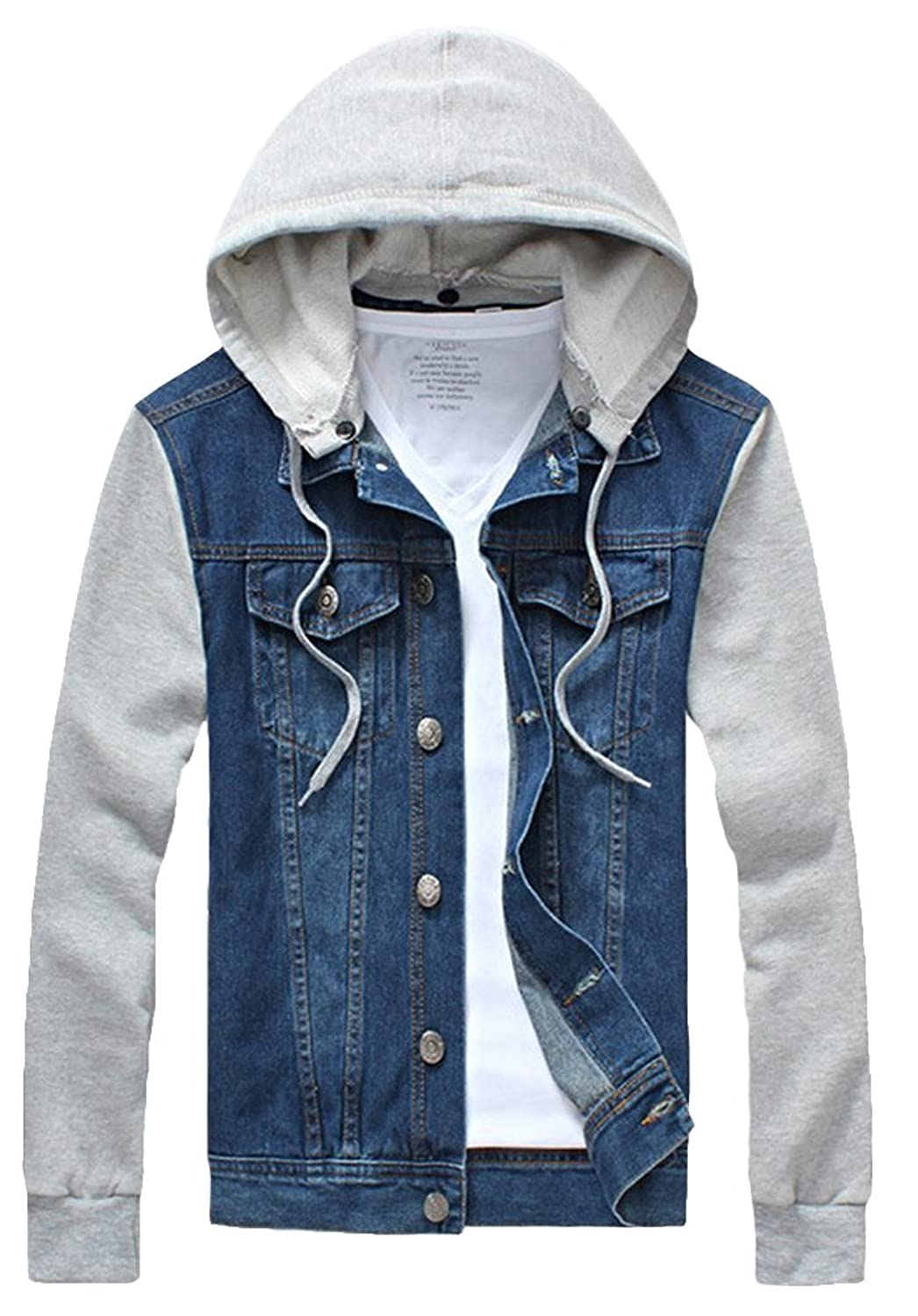 Kelmon Men's Rugged Wear Denim Hoodie Jacket: Amazon.co.uk: Clothing