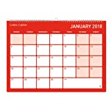 Collins A4 Colplan 2017-2018 Academic Mid-Year Monthly Memo Calendar