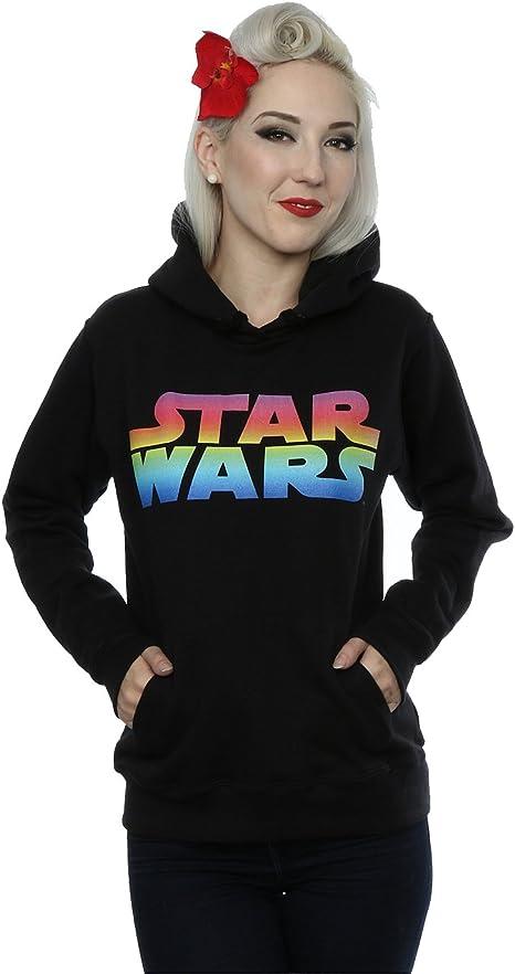 TALLA S. Star Wars Damen Rainbow Logo Kapuzenpullover