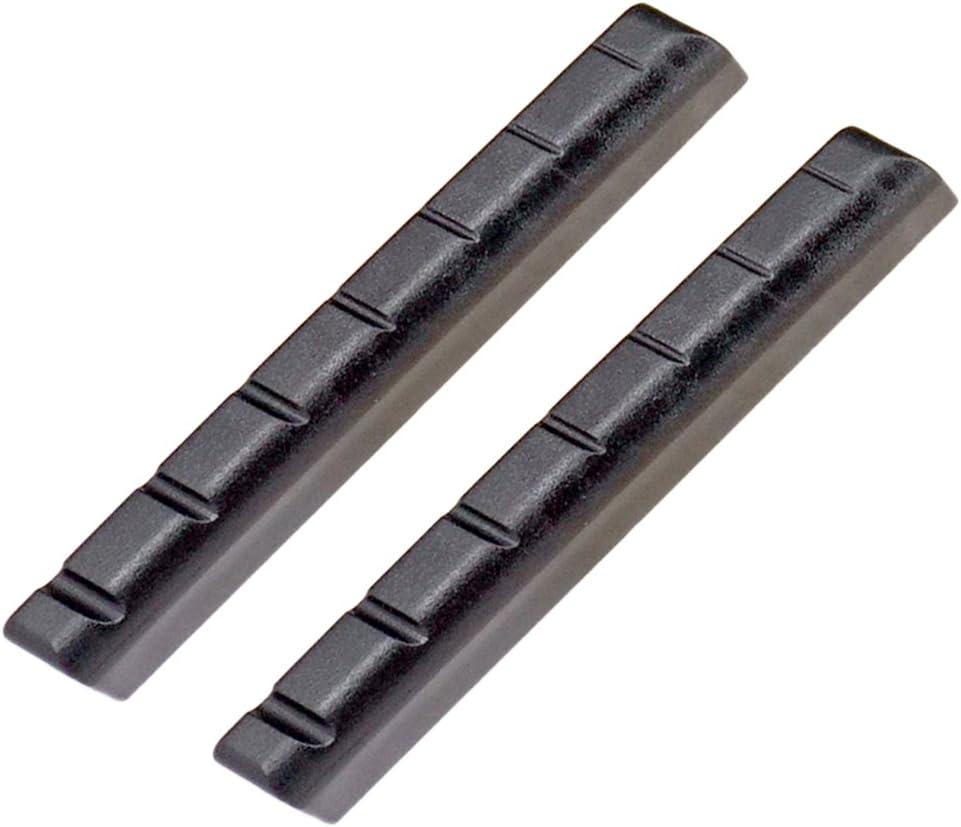 Sillín Ranurado Plástico Negro De La Tuerca Para 7 Partes Del Ukelele De La Guitarra De La Secuencia - para guitarra de 7 cuerdas