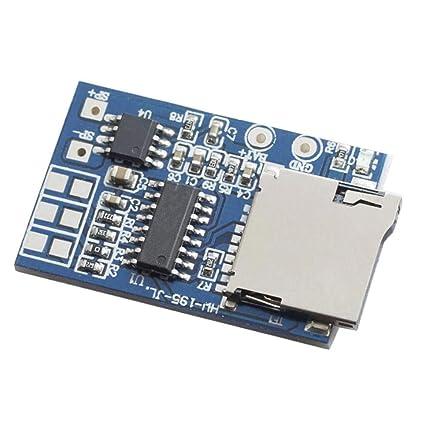 DAOKI 5PCS TF Card MP3 Decoder Board 2W Amplifier Module 3.7V//5V Power Support FM Radio Audio Mode