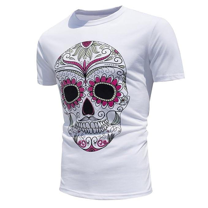 DEELIN Tops Camiseta para Hombre Hombres Verano Personalidad Tops Camisa Encuentro Sol Cambiar Color Manga Corta Casual T-Shirt: Amazon.es: Ropa y accesorios