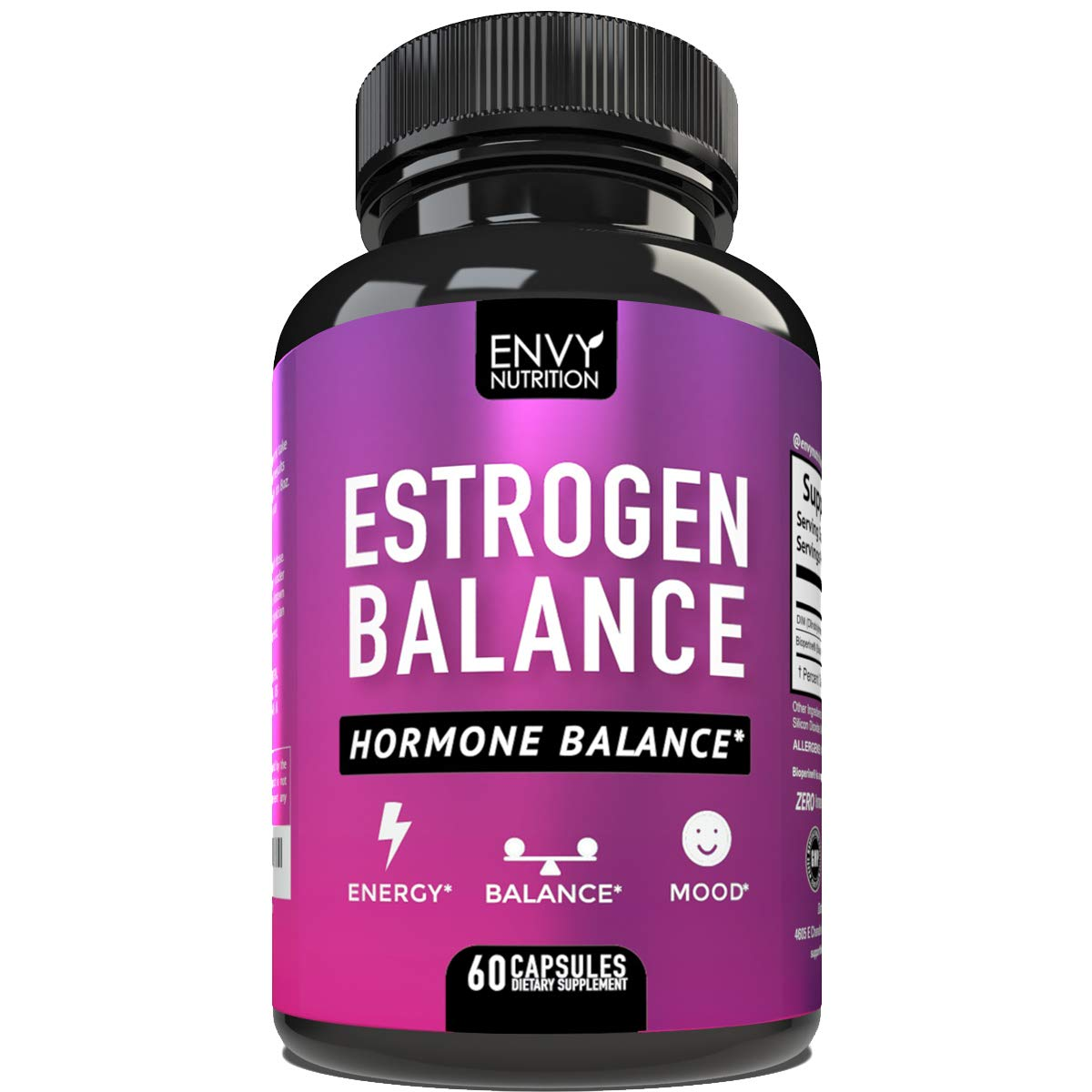 Estrogen Balance - Hormone Balance for Women with DIM- Menopause Relief, Estrogen Blocker and Hormonal Acne Treatment - Plus BioPerine - 60 Capsules