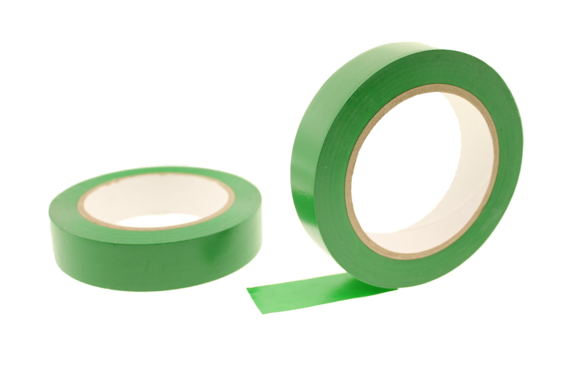 2pk 1'' GREEN Durable Rubber Adhesive PVC Vinyl Sealing Coding Warning OSHA Caution Marking Safety Electrical Removable Floor Tape (.94 in 24MM) 36 yard 7 mil