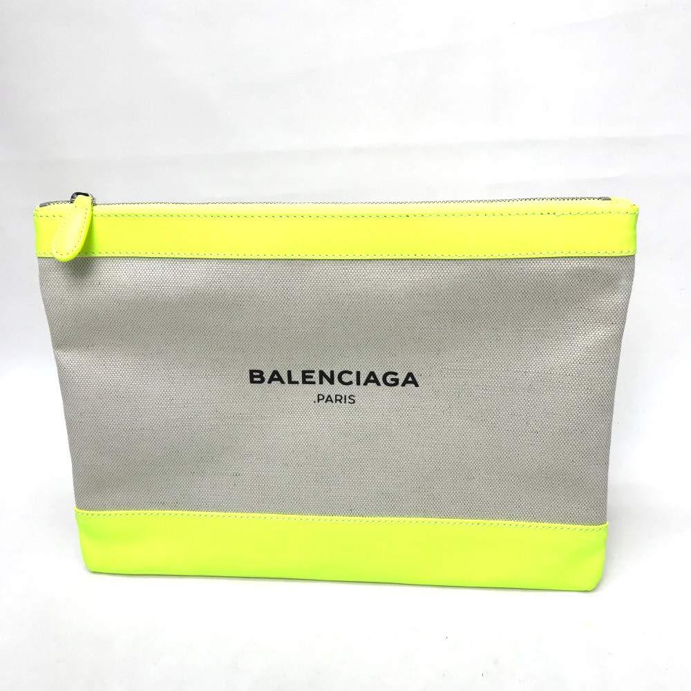 (バレンシアガ)BALENCIAGA 420407 ロゴ メンズ レディース クラッチバッグ キャンバス/レザー/レディース 中古 B07MZZ8BYN
