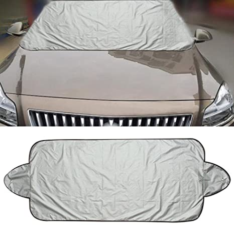 MagiqueW Car Windshield Cover /& Snow Cover,Car Sunshades for Windshield with Magnetic Edges,All Seasons Windscreen Protector for Most Car