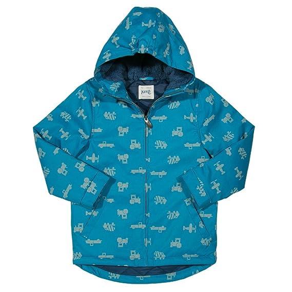 Kite Boys Go Shower Proof Coat In Blue Super Transport Print (12-18 Months) B074QQH32V