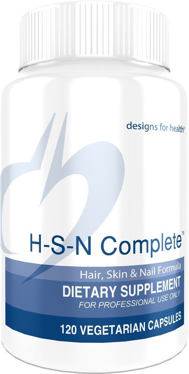 Designs for Health H-S-N Complete Capsules - 1000mcg Biotin, MSM + 500mg NAC for Hair, Skin + Nails (120 Capsules) by designs for health (Image #1)