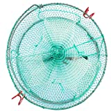 8. Drasry Bait Crab Trap 0.28 Inch Mesh Lobster Crawfish Shrimp Portable Folded Fish Net Collapsible Fishing Traps Nets Accessories 11.8in x 5.9in (30cm x 15cm) (1PCS)