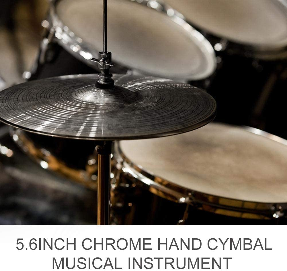 2 Pezzi Piatti dottone del Tamburo 5.6 Pollici Durevole Accessori per Strumenti a Percussione Dilwe Cymbal del Tamburo