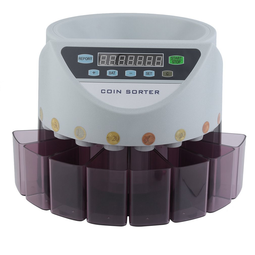 yesper Conta Monete muenzzaehl macchina monete sortierer monete Euro soldi macchina contasoldi Coin Counter Sorter 300/pezzi//min Grau