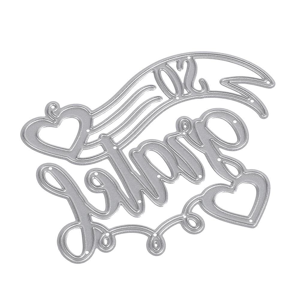 Formen unterbrechen Vier Buchstaben DIY Metall Schablone Scrapbook Craft Stickerei Schneiden sterben