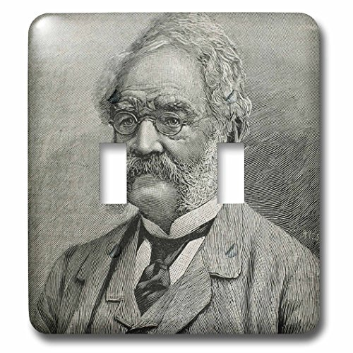 3dRose lsp_83151_2 Werner von Siemens, German engineer, 19th c engraving HI13 PRI0343 Prisma Double Toggle Switch