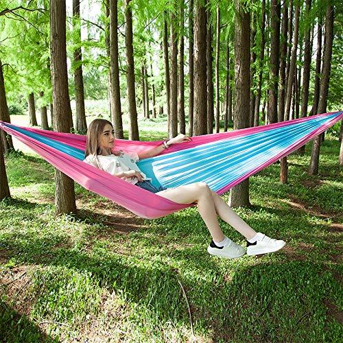rose bleu  YANGJ Hamac de Parachute extérieur portatif avec moustiquaires (Vert armée) Camping randonnée