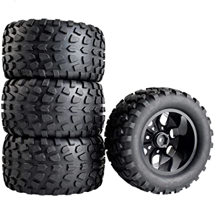 4x Rubber Tire Wheel RC 1:10 On Road Car Racing Model Toy Car accessories