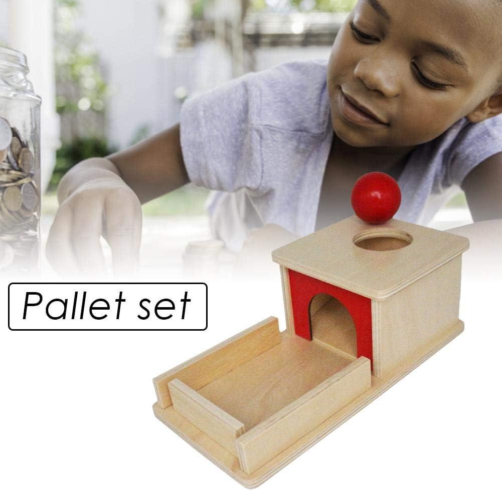 farmer-W Montessori Jouet pour Tout-Petits Cible Permanente Montessori Objet Mat/ériel Bo/îte De Permanence avec Plateau Montessori Jouets pour B/éb/és