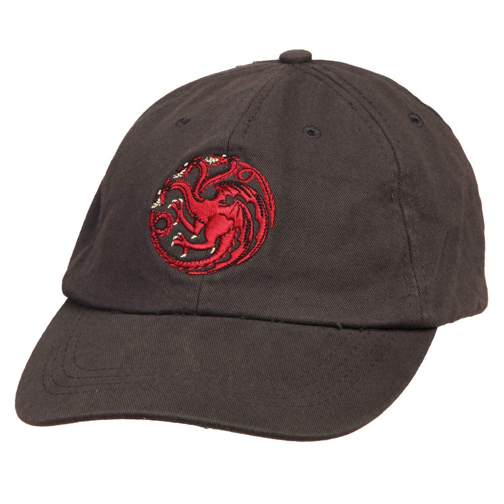 f9b3beb7 Amazon.com: Game of Thrones Targaryen Dragon Sigil Strapback Baseball Cap  Hat: Clothing