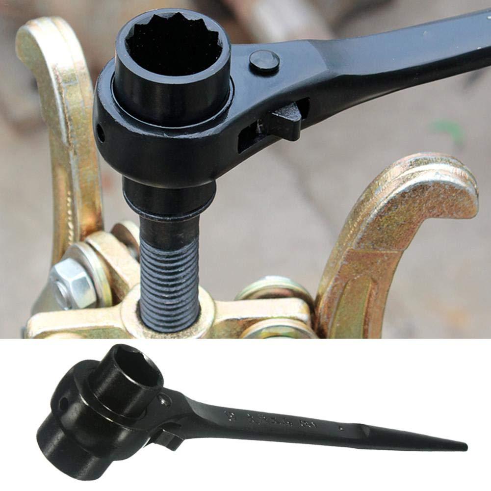 WUYANSE Llave de z/ócalo de trinquete Llave de Doble Cabezal para garajes talleres autopartes mec/ánica Profesional carpinter/ía 19 x 24 mm