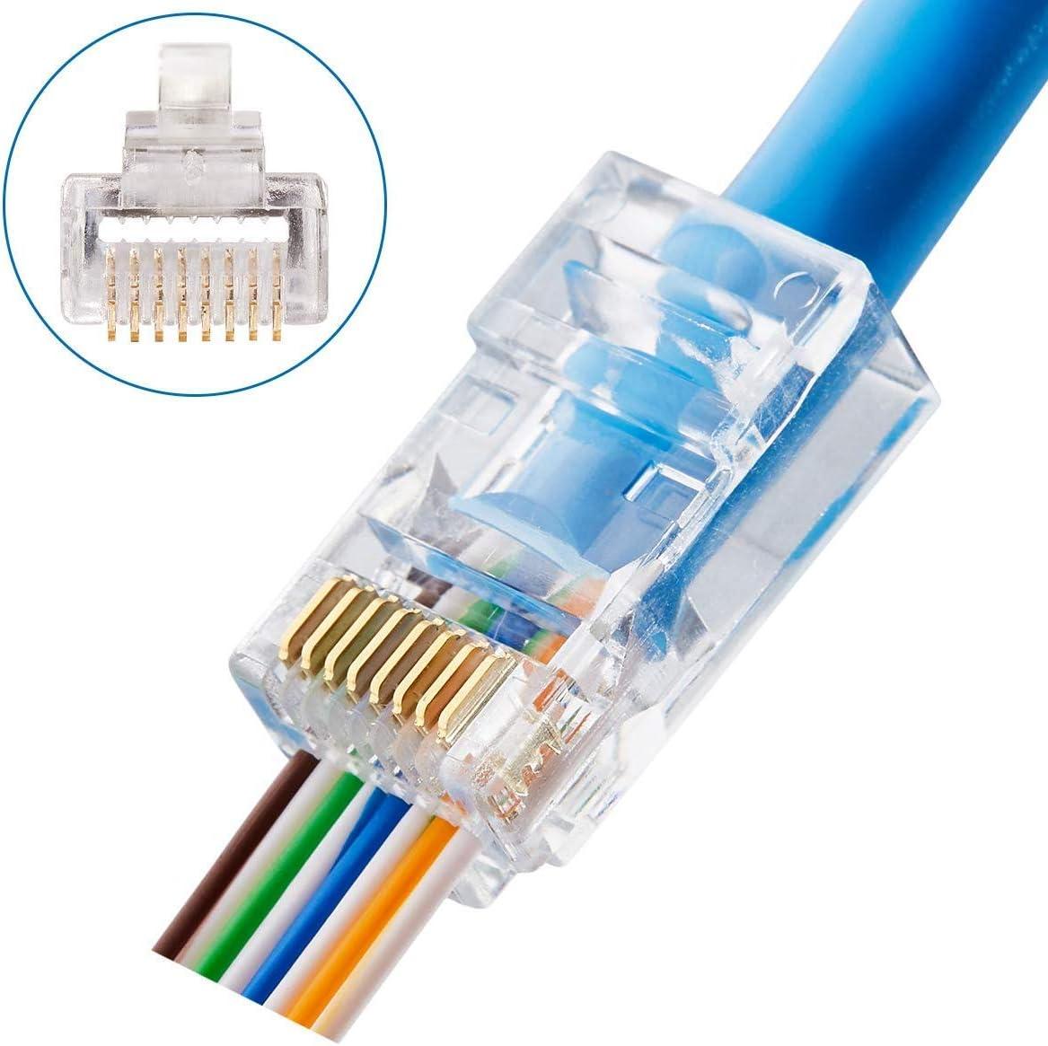 Ethernet Connectors RJ45 Connector 50 pieces Modular Connectors