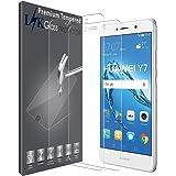 LK Huawei Y7/Huawei Y7 Prime Protector de Pantalla, [2 Pack] Vidrio Templado Screen Protector [Garantía Vitalicia De Sustitución]