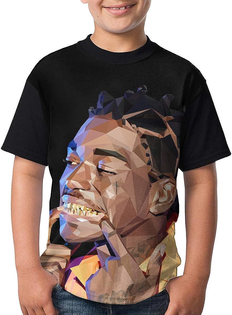 WangSiwe Kodak Black Boys Summer 3D Printing Short Sleeve T-Shirt