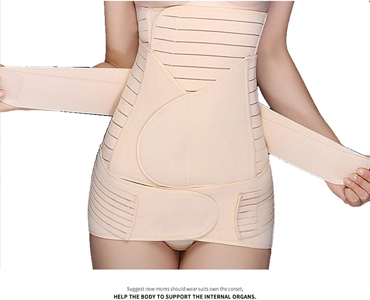Post-Partum Belly Wrap Belt Support Cintura Addominale Post Gravidanza Recupero Cintura Dimagrante Corpo Shapewear per Le Donne TT Global Donna 3-in-1 Belly Band postnatale