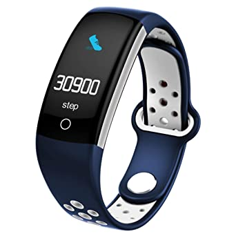 Amazon Com Bluetooth Fitness Tracker Q6 Lcd Screen Display Sports