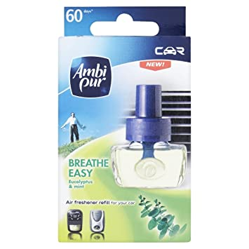 ambi pur car breathe easy eucalyptus mint air freshener refill 7