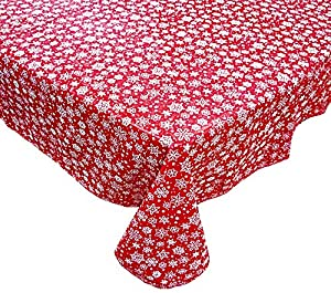 Amazon Com Red Snowflakes Holiday Flannel Backed