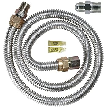 "Dormont 1675kit36 blue gas hose connector kit 3/4"" diameter 36."