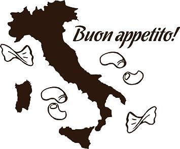 GRAZDesign Aufkleber Küche Italien - Küche sprüche Guten Appetit ...