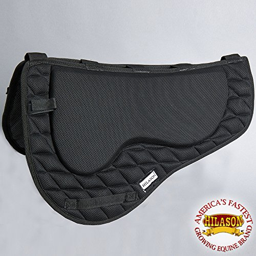 HILASON TA330A Western Endurance Memory Foam Saddle PAD with Anti-Slip - Black
