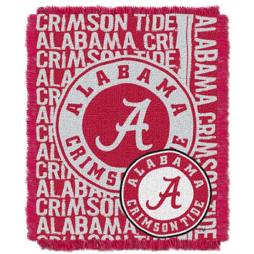 The Northwest Company Officially Licensed NCAA Alabama Crimson Tide Double Play Jacquard Throw Blanket, 48