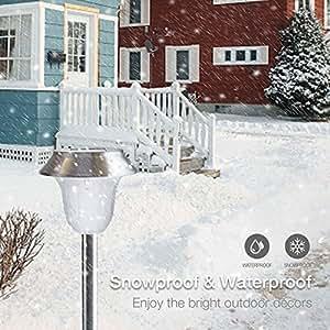 Pathway Lights Outdoor, Solar Garden Lights, Waterproof Stainless Steel LED(grey)