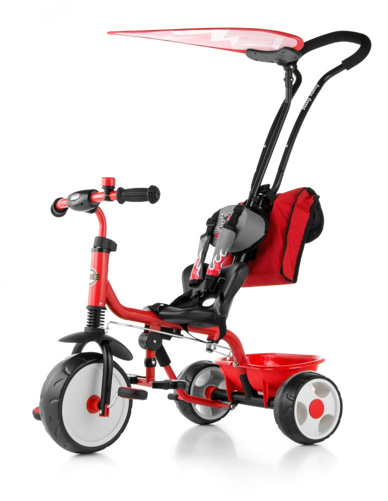 MillyMally 5901761121865 Trike avec Pare-Soleil Bell – Rouge