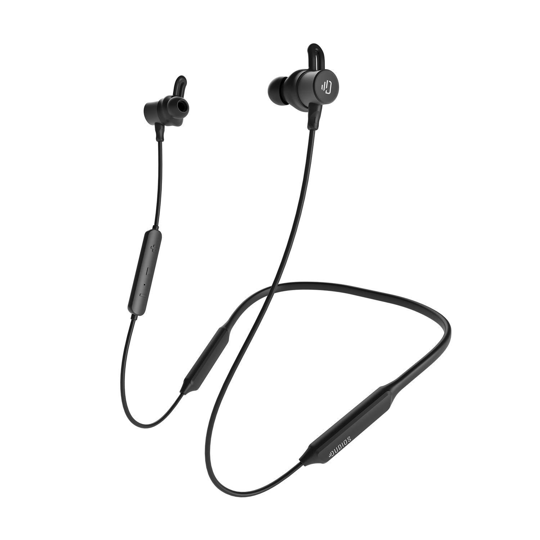 Sport Bluetooth Headphones IPX7 Sweatproof Wireless Sports Earbuds, Deep Bass HiFi Stereo in-Ear Earphones, 16 Hrs Working Time, Running Headphones W CVC6.0 Noise Cancellation Mic