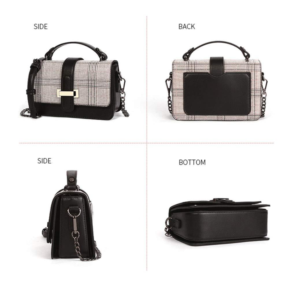 ZJDECR Enkel och liten trend mode kedja liten fyrkantig väska koreansk version av The Wild Messenger väska handväska handväska (färg: A) b
