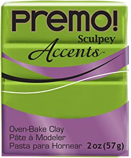 product image for Premo Sculpey Polymer Clay 2 Ounces-Bright Green Pearl