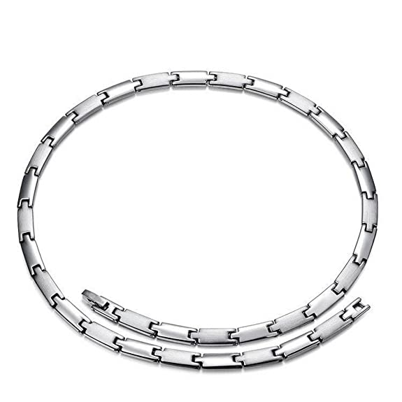 Amazon Com Titanium Steel Magnetic Therapy Chain Germanium Necklace
