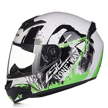 XC Casco De Motocross De La Cara Completa, Anti-Niebla Y Visera del Sol