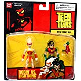 "Teen Titans ROBIN vs LIGHTNING 3.5"" Action Figure (Bandai 2004)"
