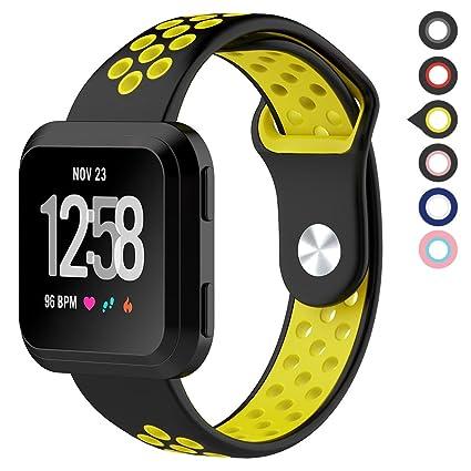 Amazon.com: Meifox Fitbit Versa - Bandas para hombre y mujer ...