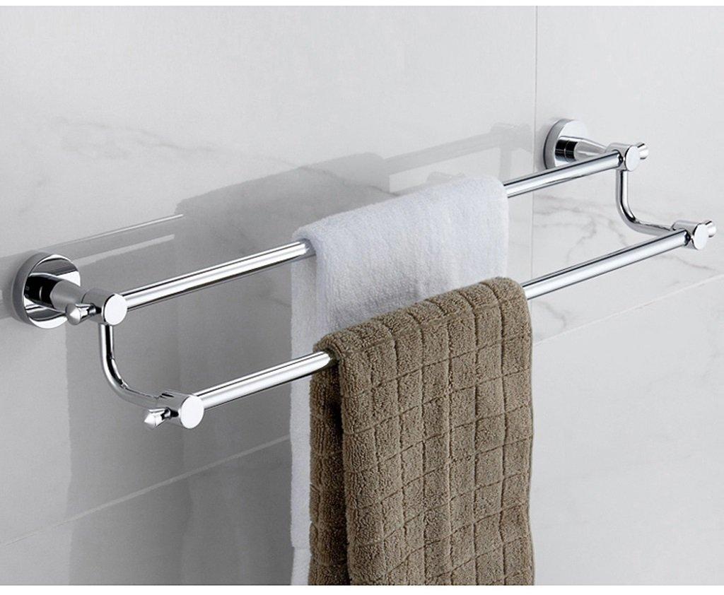壁掛けのバスルームタオルラック すべての銅の浴室のタオルラック浴室付属品太字の二重管ロッドタオルラックバスルーム棚 (形状 けいじょう : 9848) B07F369KQ79848