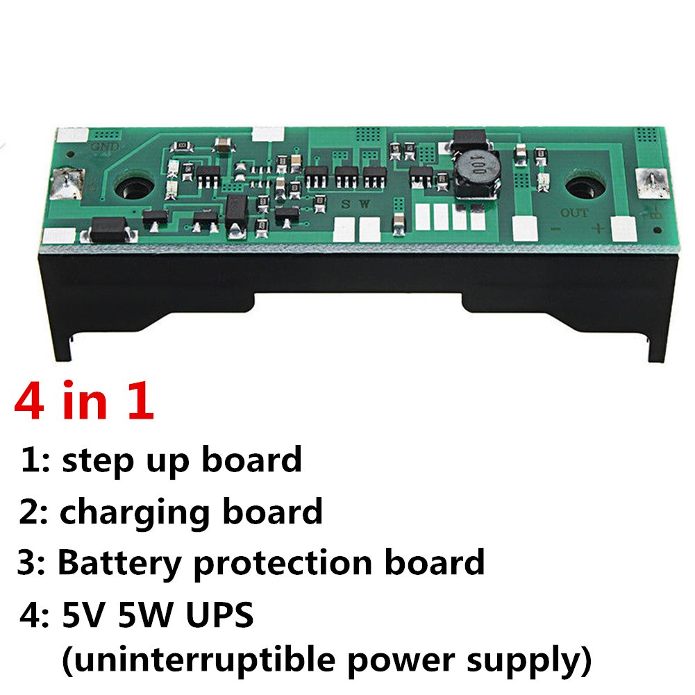 4 In 1 Board 5v 5w Ups For Raspberry Pi 18650 Battery Charging 37v Basic Uninterruptible Power Supply Circuit Step Up To Dc With Protection Business Industry Science
